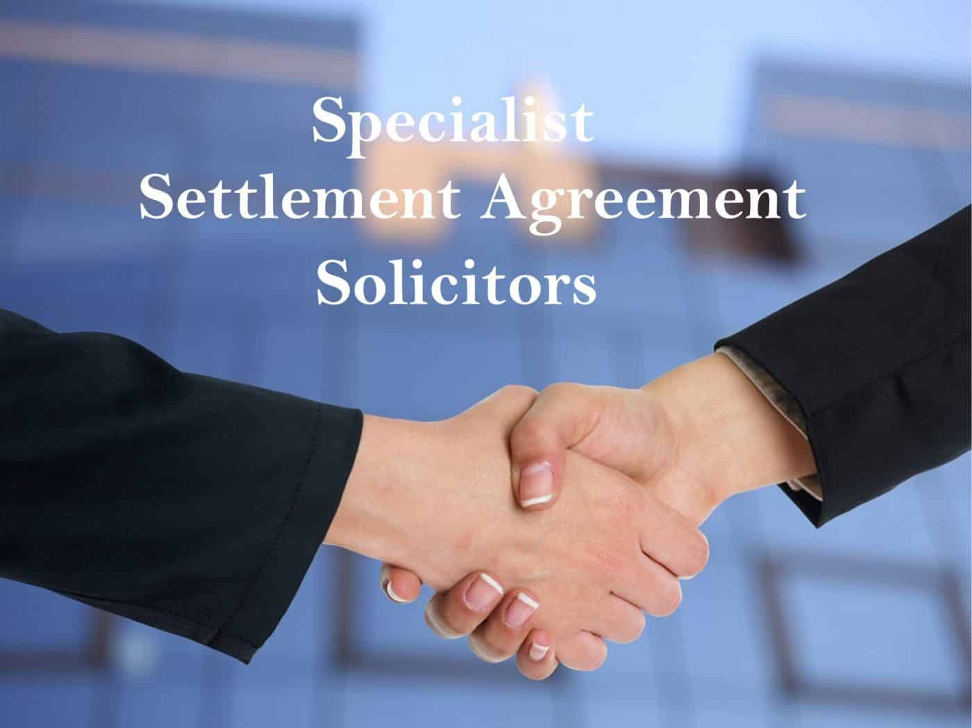 Settlement Agreement Solicitors Image